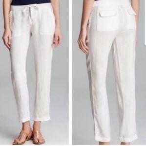 Joie Martisha white linen drawstring pants size 6